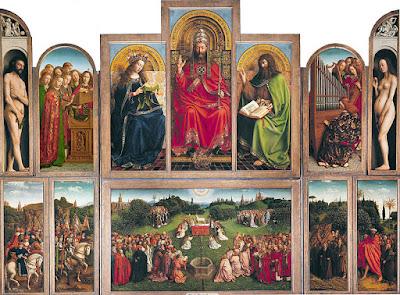the Ghent Altarpiece by Hubert van Eyck and Jan van Eyck