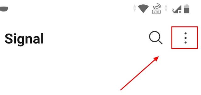 signal messenger settings icon