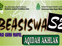 Juknis Pendaftaran Beasiswa S2 Aqidah Akhlaq Tahun 2019