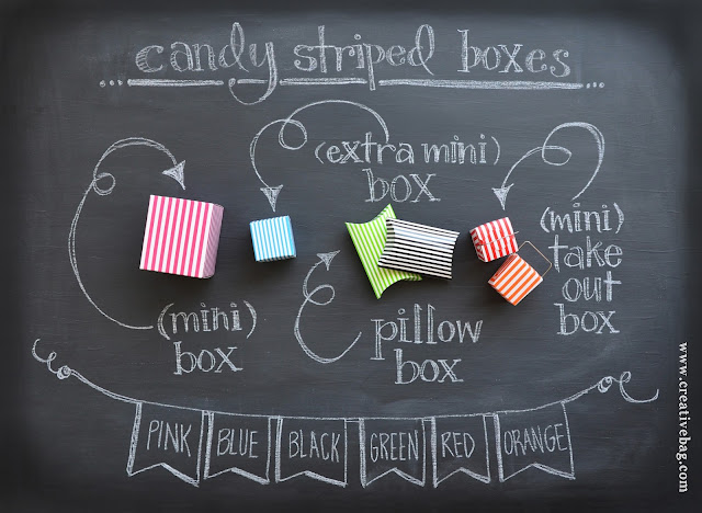 Creative Bag candy striped boxes
