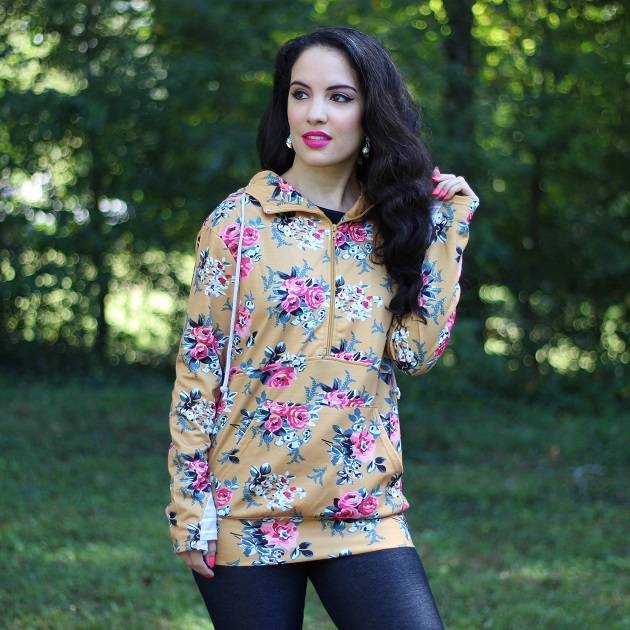 1600818906927%2B%25282%2529 Shewin Wholesale Womens Clothing Floral Print Hoodie