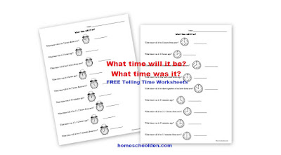 http://homeschoolden.com/2017/03/20/free-telling-time-analog-clock-worksheets/