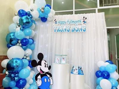 dịch vụ trang trí sinh nhật tại nhà hoàng mai