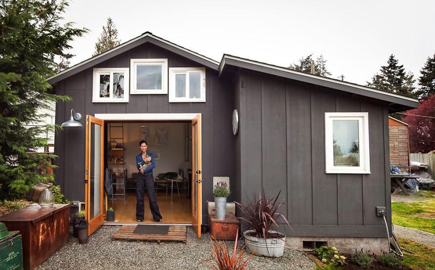 Diseño de  casa pequeña  en una cochera