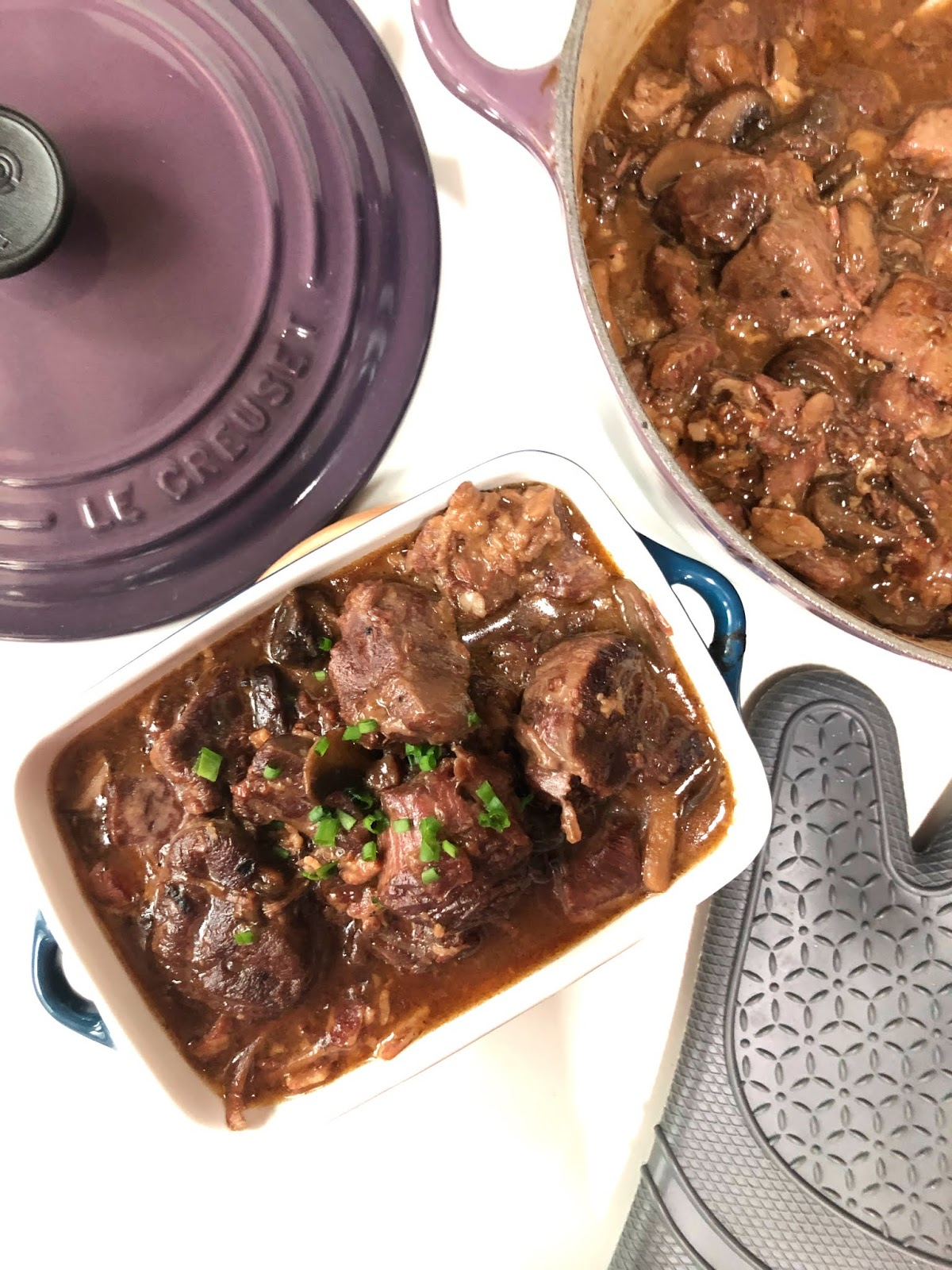 Mushroom and beef shin stew