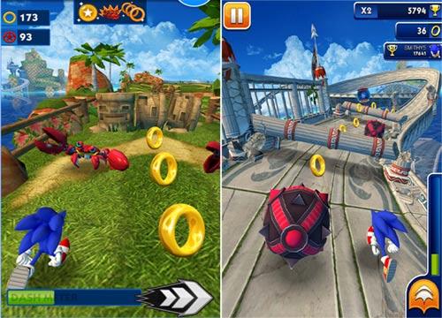 لعبة الاطفال سونيك داش Sonic Dash كاملة ومجانية لاجهزة الكمبيوتر والاندرويد