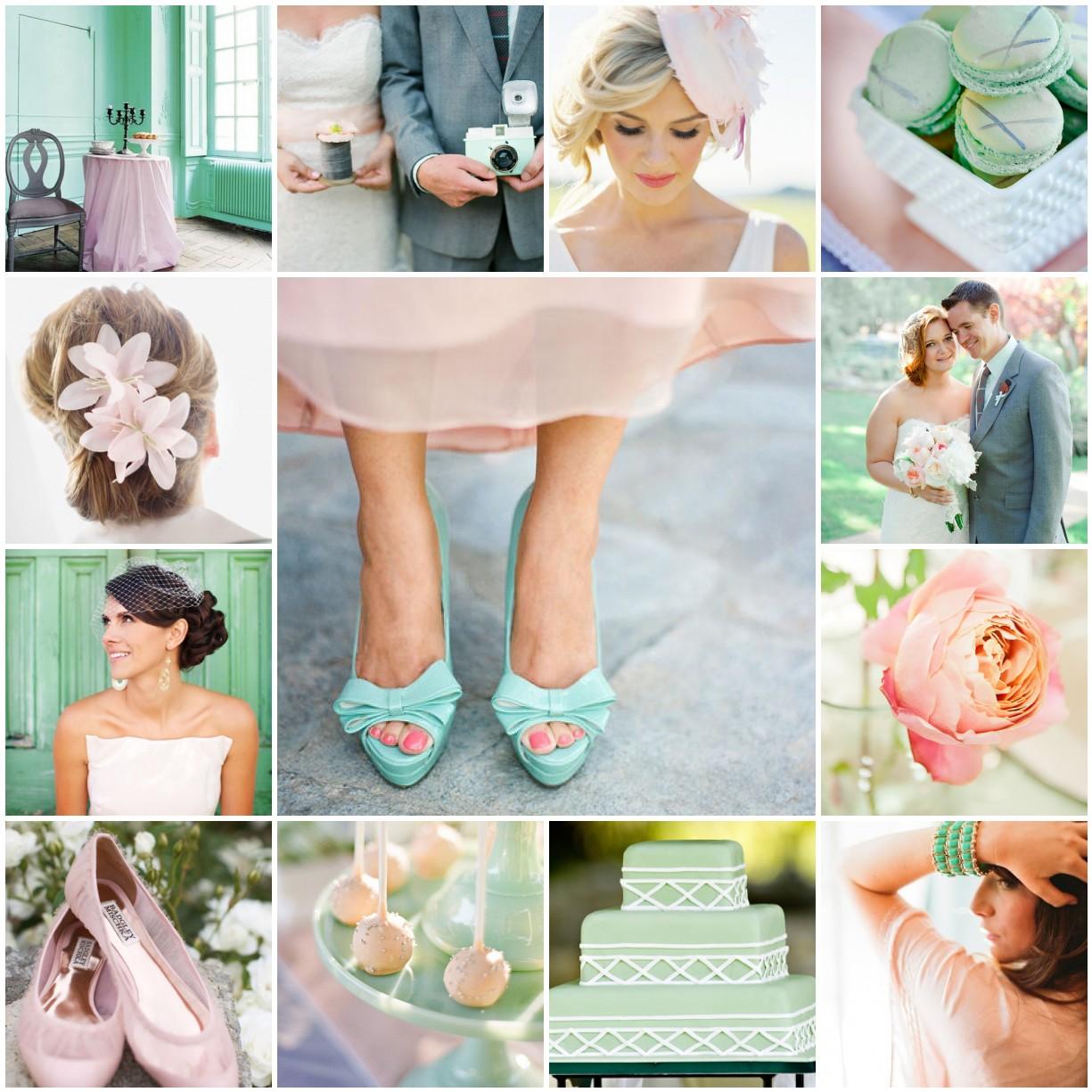 Seafoam Green Wedding Ideas: Seafoam & Blush