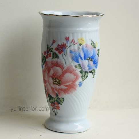 White Oval Decorative Vase for Shelves Display available in Port Harcourt, Nigeria