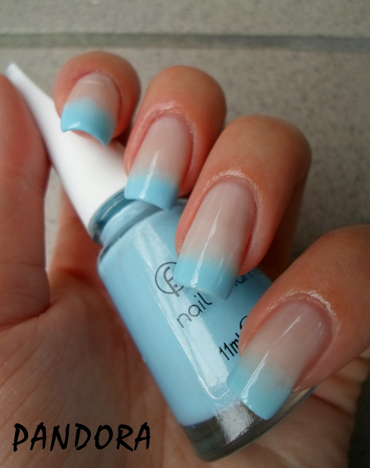 Gradient French Manicure: Pandora Nails: Gradient French