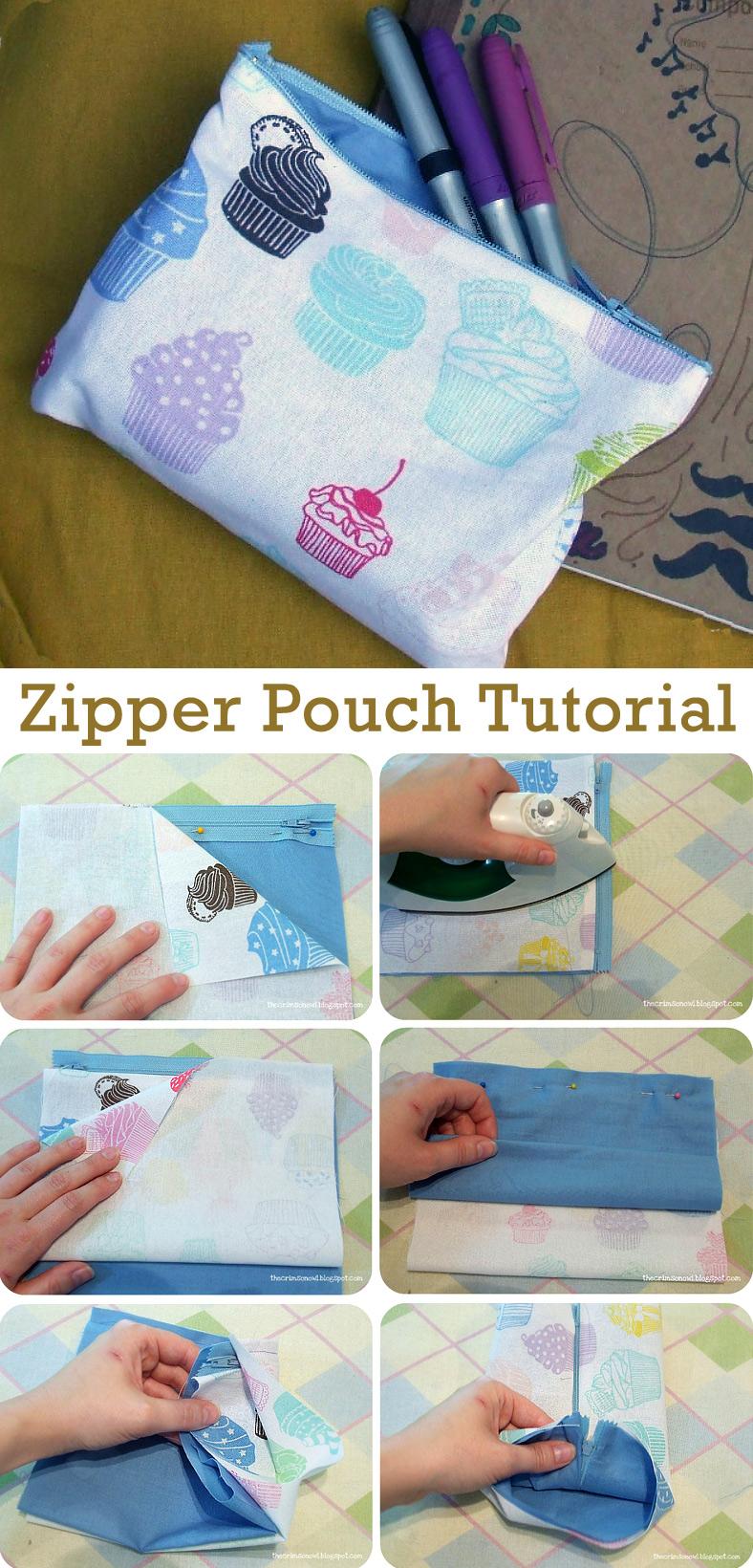 Simple Zipper Pouch Tutorial