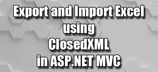 Import data from excel file to database table in aspnet core