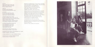 Rush - A Farewell to Kings 1977 Remastered Booklet Back Cover