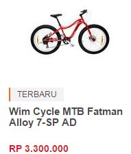 Harga Sepeda Gunung Wim Cycle Terbaru 2015