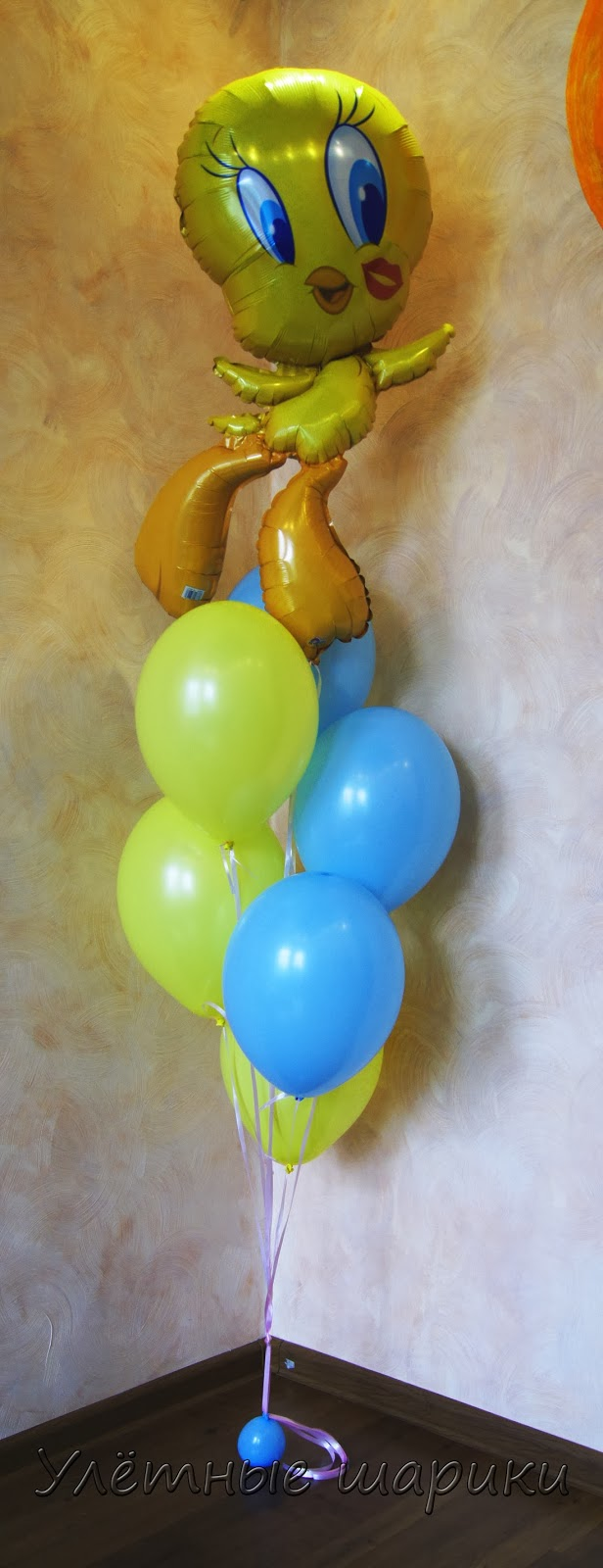 Букет из воздушных шариков с Твитти