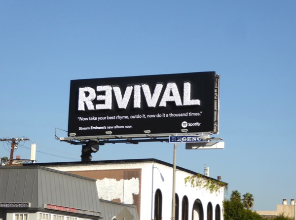 3D Eminem Revival Spotify billboard