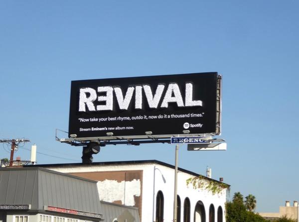 3D Eminem Revival Spotify billboard