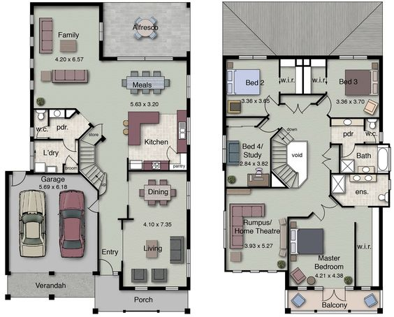 Duplex four spacious bedrooms, 2.5 bathrooms and an open-plan kitchen, living and dining space