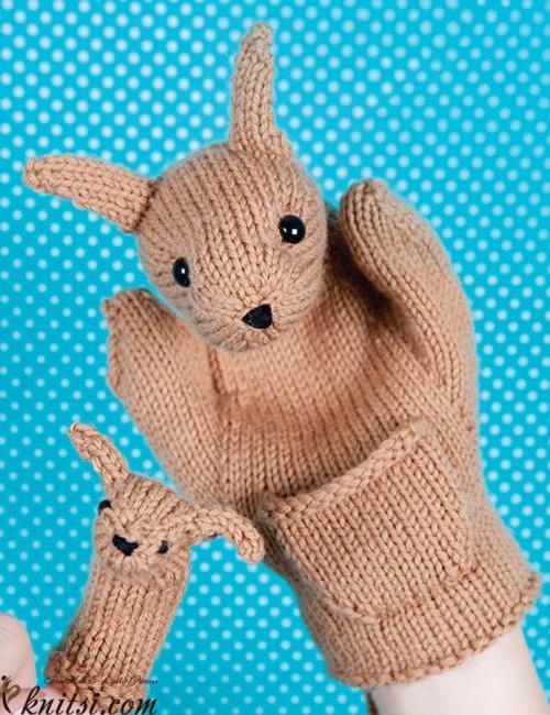 Kangaroo & Joey (Hand Puppets) - Free Pattern