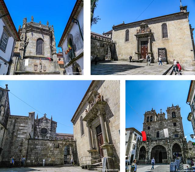 Detalhes do exterior da Sé de Braga, Portugal