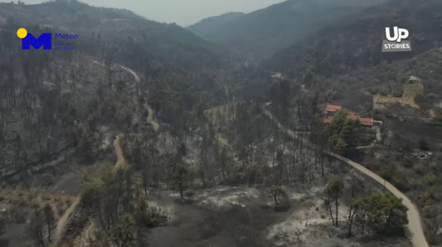 Η βιβλική καταστροφή της Εύβοιας από ψηλά (βίντεο drone)