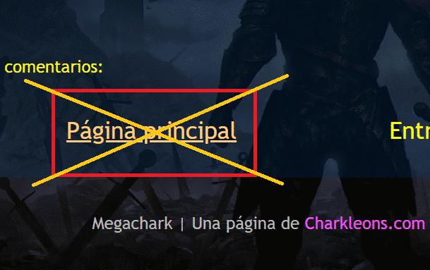 Cómo quitar Página principal en Blogger - Charkleons.com