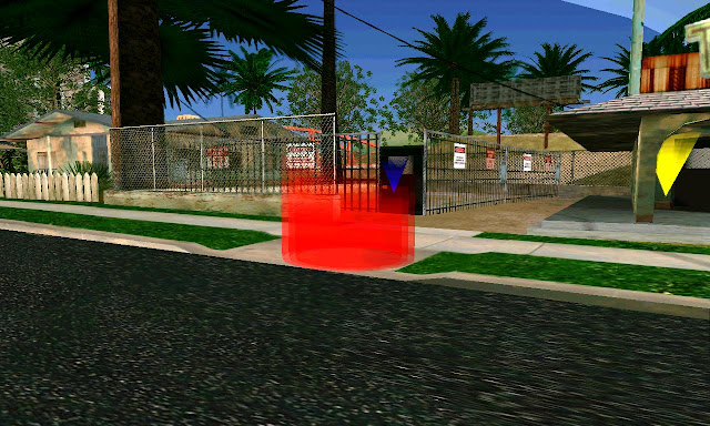 Sword Play Cleo Mod GTA SA Android red marker
