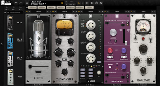 Interface do plugin Slate Digital - VMR Virtual Mix Rack Complete v2.6.4.0