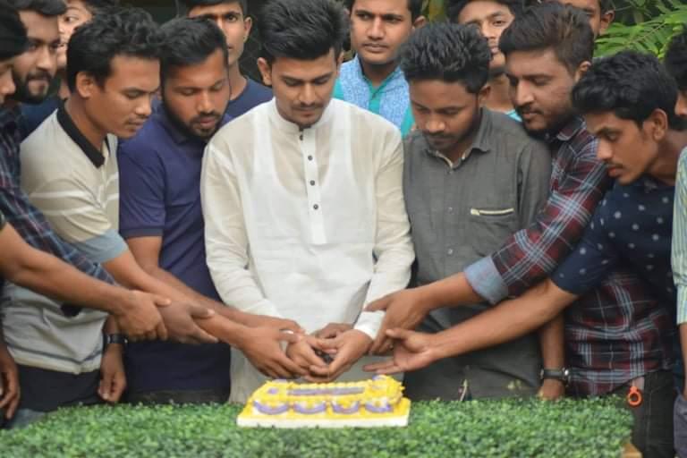 মহেশখালীতে জেলা ছাত্রলীগ সভাপতি সাদ্দামের জন্মদিন পালন