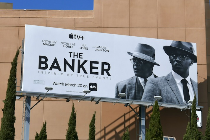 Banker AppleTV+ movie billboard