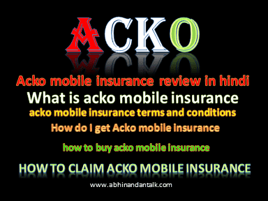 acko mobile insurance review