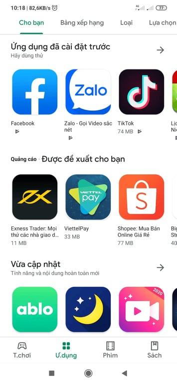 Tải Google Play miễn phí về máy điện thoại Android c