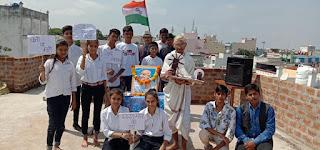 पीथमपुर ओम श्री एडवांस एकेडमी हाई स्कूल में गांधी जयंती एवं लाल बहादुर शास्त्री की जयंती मनाई