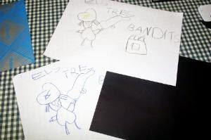 Manualidad  Libro infantil Los tres bandidos
