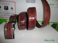 dây lưng đà điểu nâu tím 1