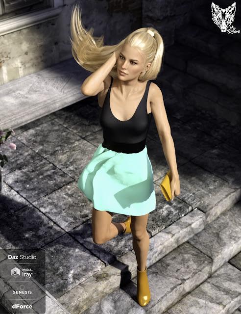 dForce Inocencia Dress Outfit for Genesis 8 Female