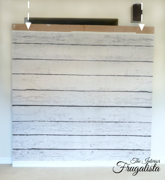 DIY Photo Backdrop Wall Before Crown Molding