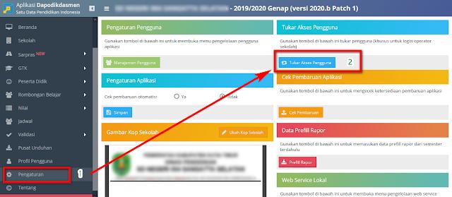 fitur tukar akses pengguna dapodikdasmen 2020b