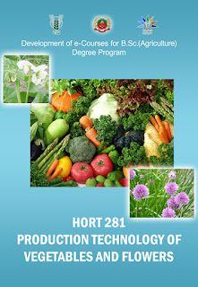 Production Technology Of Vegetables and Flowers ICAR E course Free PDF Book Download e krishi shiksha