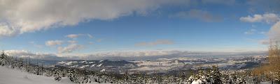 Panorama z Kopieńca Wielkiego na północ i północny zachód.