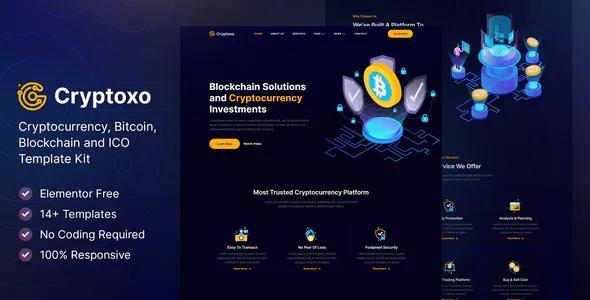 Best Cryptocurrency Blockchain & Bitcoin Elementor Template Kit