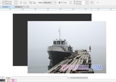 Membuat Tepi Foto Gelap (Efek Vignette) di CorelDraw