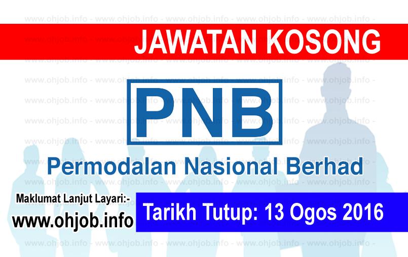 Jawatan Kerja Kosong Permodalan Nasional Berhad (PNB) logo www.ohjob.info ogos 2016