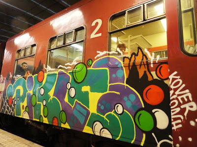 oahu pikles Kover Noach train graffiti
