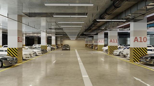 Hầm gửi xe hiện đại và thông minh tại Booyoung Vina