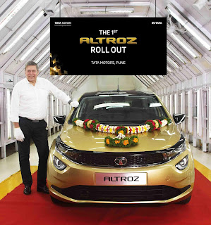 Tata motors launches first ALTROZ from Pune plant
