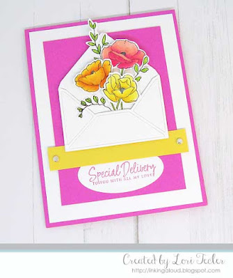 Special Delivery card-designed by Lori Tecler/Inking Aloud-stamps and dies from Mama Elephant
