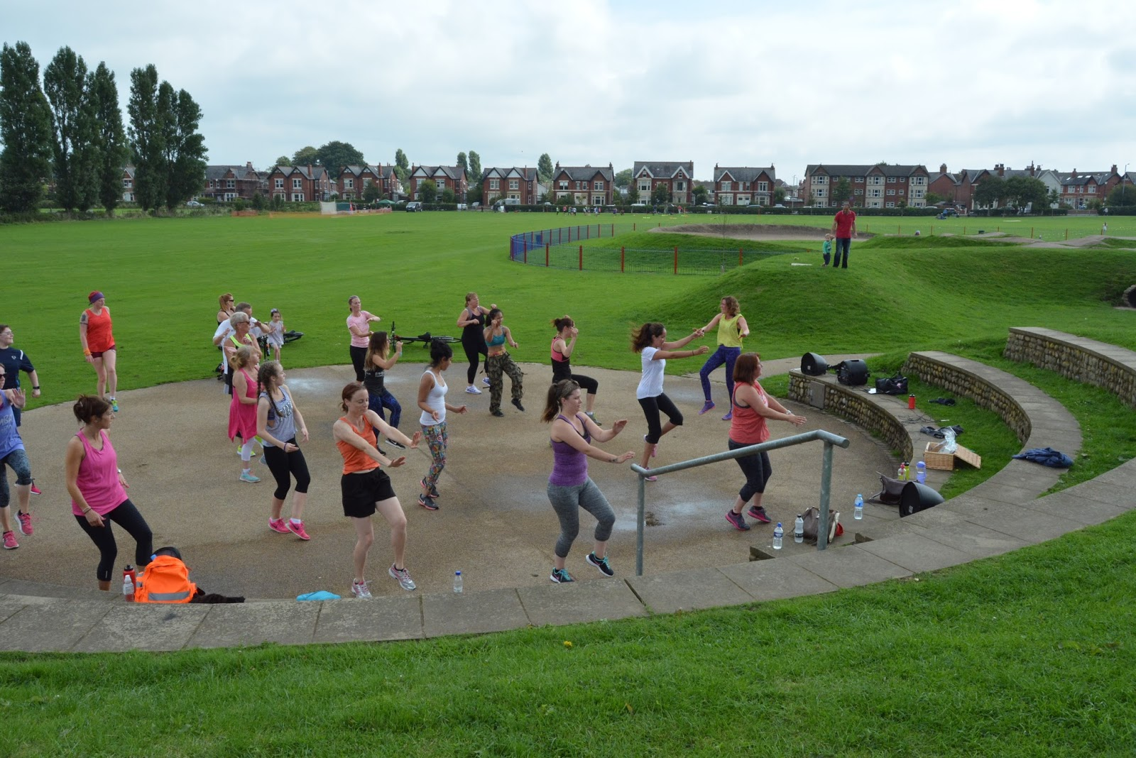 lytham sportfest, day 2, zumba, salsa, dance, dancing, party, workout, fitness