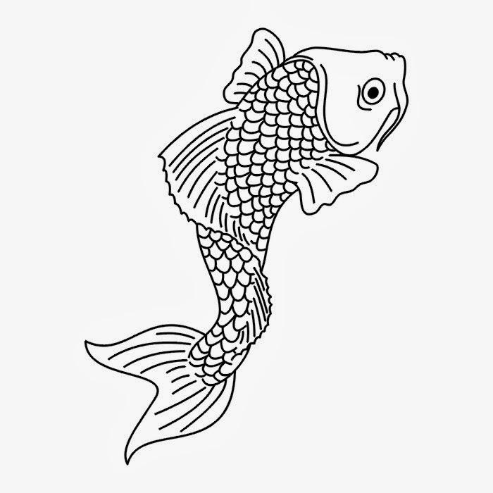 Koi fish tattoo stencil