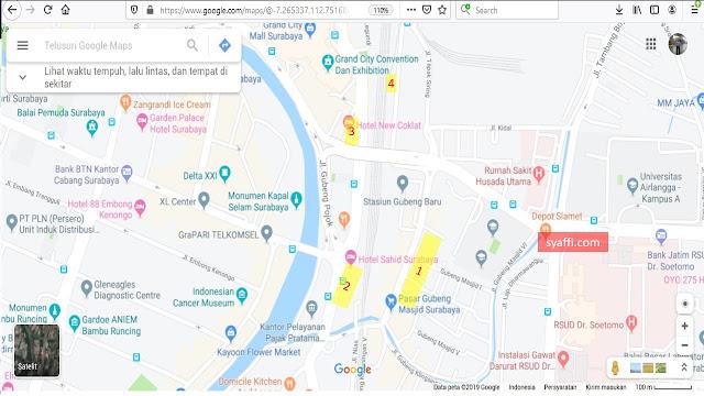 ✓✓ Lokasi Jemput / Pick Up Point Ojek Online di Stasiun Surabaya Gubeng