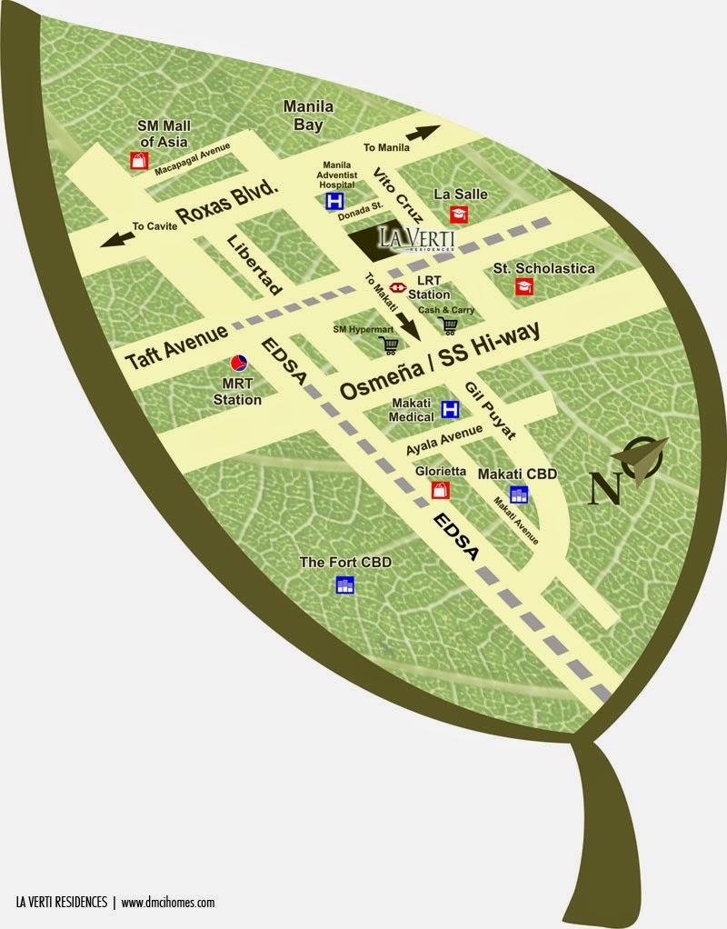 La Verti Residences Location Map
